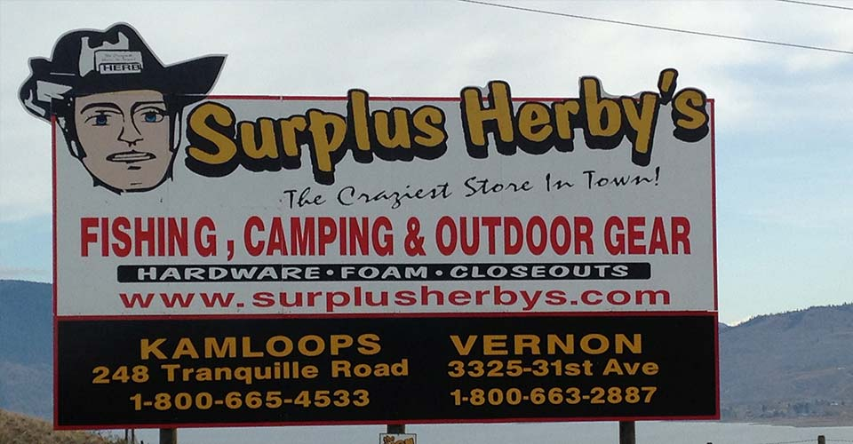 Surplas Herbys billboard