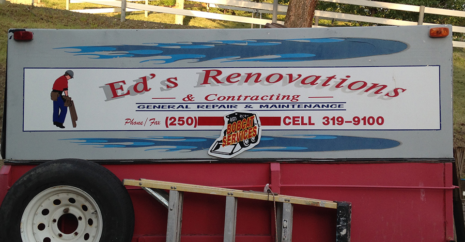 eds renovations truck signage