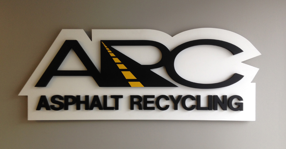arc logo cut out sign