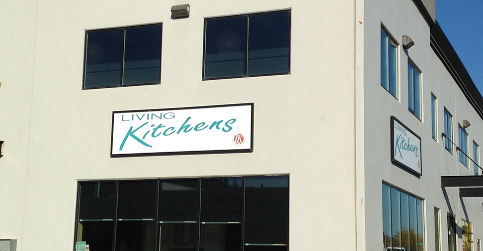 living kitchens signage